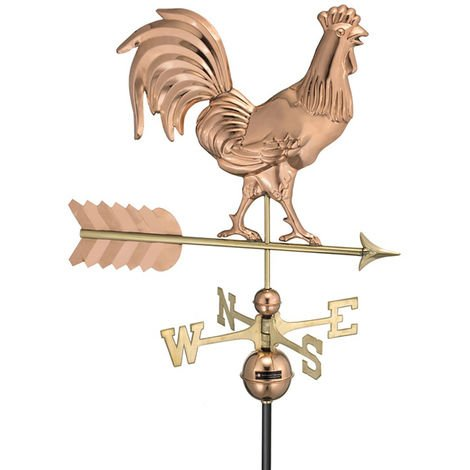 Farmhouse Copper Rooster Weathervane