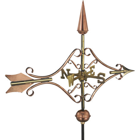 Cottage Victorian Arrow Copper Weathervane