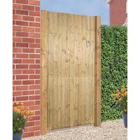 Carlton Flat Top Wooden Gate 1800mm H X 900mm W Tanalised