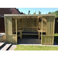 Buttercup Garden Room Shelter - Open Sided Summerhouse – Assembly included