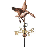 Cottage Landing Duck Copper Weathervane