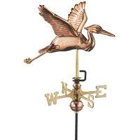 Cottage Heron in Flight Copper Weathervane