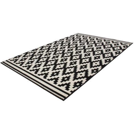 Teppich Flachflor Arabesque Scandic Design Modern Teppiche Taupe 160x230cm