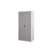 Alton 2 Door Double Wardrobe White & Grey Bedroom Furniture Cupboard