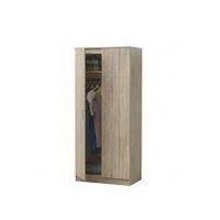 2 Door Double Wardrobe In Sonoma Oak - Bedroom Furniture Storage Cupboard