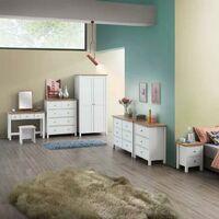 Astbury White Makeup Dressing Table Stool Bedroom Chair Seat Vanity Stool