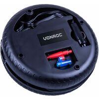 Mini compresor VONROC 12V - Con manómetro - Max. 10 bar - Incluye 3 adaptadores