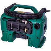 VONROC Compresor VPower 20V - Batería de 20V y enchufe de 12V para el encendedor de cigarrillos - 11 bar - Incl. 8 accesorios - Incl. batería y cargador de 2.0Ah