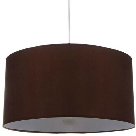 Lámpara de techo, pantalla textil en color marrón Talla/Tamaño - Grande