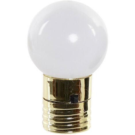 Bombilla Decoración Luminosa LED con Imán, Bombilla Decorativa 4,5X4,5X7 cm Color - Dorado