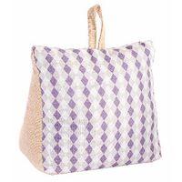 Sujetapuertas Decorativo de algodon, Diseño de sacos con Estilo Original/Moderno 18x10x18cm Modelo - A