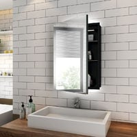 ELEGANT Illuminated Bathroom Mirror Cabinet with Lights, Wall Mounted LED Bathroom Mirror with Shelf, 500 x 700mm, Shaver Socket
