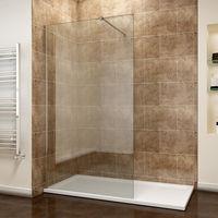 ELEGNAT Walk In Shower Enclosure Screen Easy Clean 700mm
