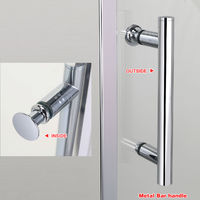 1000 x 900 mm Sliding Shower Enclosure 6mm Safety Glass Reversible Bathroom Cubicle Screen Door with Side Panel