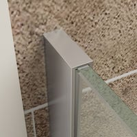 ELEGANT 1200mm Frameless Wet Room Shower Screen Panel 8mm Easy Clean Glass Walk in Shower Enclosure with Support Bar