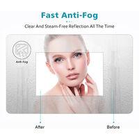 ELEGANT Illuminated LED Bathroom Mirror 800 x 800 mm Modern Round Mirror Touch Sensor + Demister