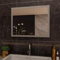 ELEGANT 900 x 700 mm Horizontal Vertical LED Illuminated Bathroom Mirror with Light Touch Sensor + Demister