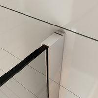 ELEGANT 900mm Frameless Wet Room Shower Screen Panel 8mm Easy Clean Glass Walk in Shower Enclosure with 300mm Return Panel
