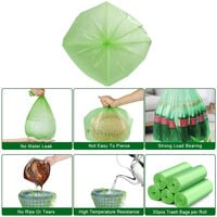 Portable Camping Festival Toilet Home Clean Composting 1 Roll Biodegradable Bags