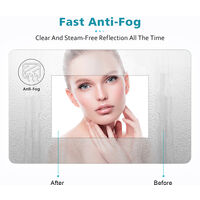 ELEGANT Round Illuminated LED Bathroom Mirror Touch Sensor + Demister 700 x 700 mm