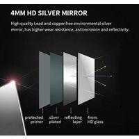 ELEGANT Anti-foggy Wall Mounted Mirror LED Illuminated Bathroom Mirror with Bluetooth Audio 600 x 500mm