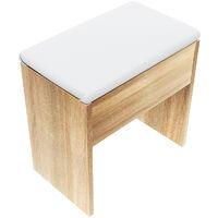 Dressing Table Sliding Mirror Make up Desk Chair Stool Set With Drawer Bedroom Dressing Desk