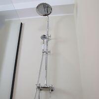 Leeds 2 colonne de douche rétro chromé avec mitigeur mécanique - Chromé
