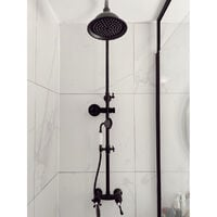 Leeds colonne de douche rétro noir vieilli mitigeur mécanique - Noir