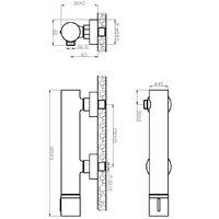 Manopola mitigeur douche noir & béton - Noir