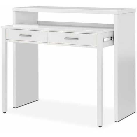 Mesa de escritorio extensible BureauBlanco Artik (Blanco Mate)