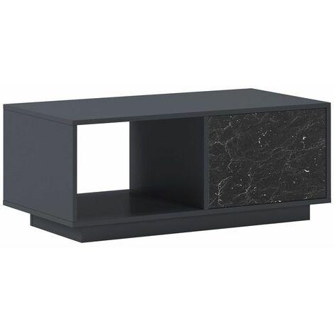 Mesa de centro SolidGris - Mármol negro