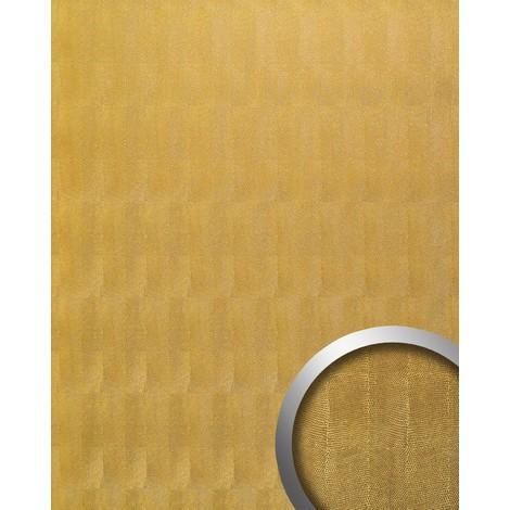Revestimiento mural Estilo cuero Piel del reptil WallFace 17016 PEARL RAY Panel autoadhesivo dorado 2,60 m2