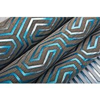 Papel pintado gráfico EDEM 84114BR92 papel pintado no tejido ligeramente texturado con ornamentos y acentos metálicos marrón gris-cuarzo gencian perlado plata 10,65 m2