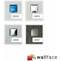 1 PIEZA DE MUESTRA S-12557-SA WallFace 3D QUAD SMOKE Punch 3D Collection | Muestra panel de pared en tamaño aprox DIN A4