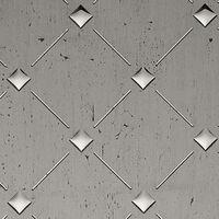 1 PIEZA DE MUESTRA S-17857-SA WallFace 3D QUAD OLD PLATIN Punch 3D Collection   Muestra panel de pared en tamaño aprox DIN A4