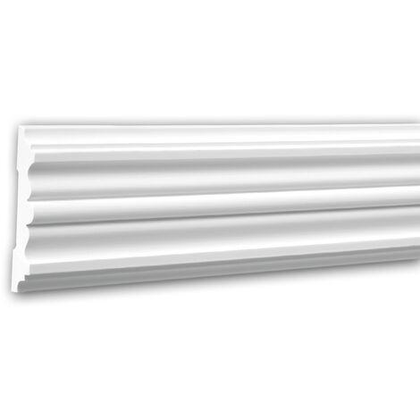 Panel Moulding 151310F Profhome Dado Rail Flexible Moulding Decorative Moulding timeless classic design white 2 m