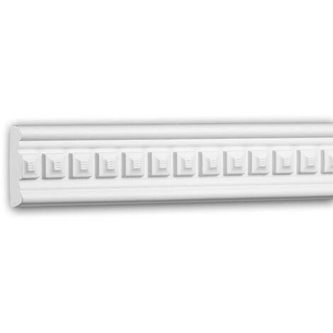 Panel Moulding 151359F Profhome Dado Rail Flexible Moulding Decorative Moulding Neo-Classicism style white 2 m