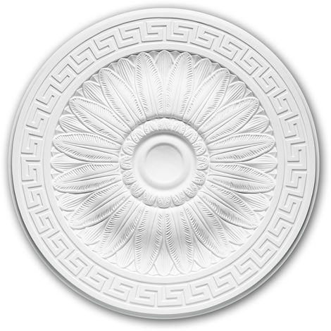 Ceiling Rose 156019 Profhome Ceiling Decoration Medallion Rosette Decorative Element Neo-Classicism style white Ø 51 cm