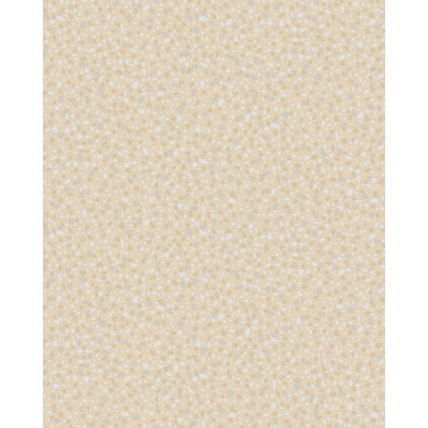 Stone tile wallpaper wall Profhome VD219124-DI hot embossed non-woven wallpaper embossed unicoloured and pearlescent effect beige 5.33 m2 (57 ft2)