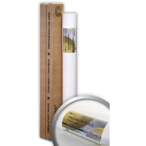 Paintable lining paper 150 g Profhome PremiumVlies 399-155 professional smooth non woven wall liner white 1 roll 269 sq ft (25 sqm)