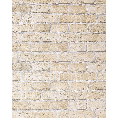 Rustic brick wallpaper wall EDEM 583-20 decorative vintage mural stone brix look vinyl sand-beige