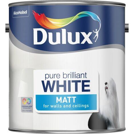 Dulux Retail Matt - Pure Brilliant White - 2.5L