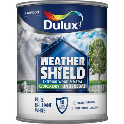 Dulux Weathershield Exterior Undercoat Pure Brilliant White 750ml