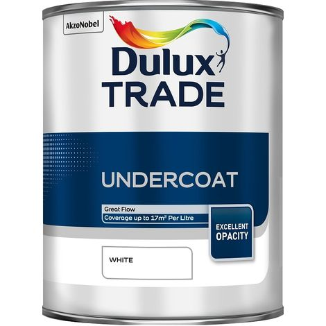 Dulux Trade Undercoat - White - 1 Litre