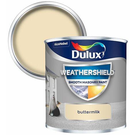 Dulux Weathershield Smooth Masonry - 250ml - Buttermilk
