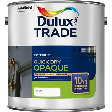 Dulux Trade Weathershield Quick Dry Opaque White 2.5L