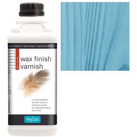 Polyvine - Wax Finish Varnish - Blue - 500ML