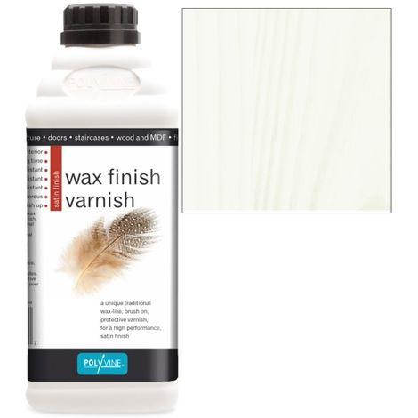Polyvine - Wax Finish Varnish - White Wash - 1 LITRE