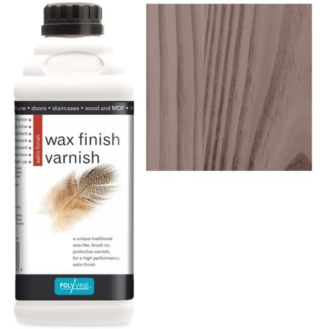 Polyvine - Wax Finish Varnish - Walnut - 1 LITRE