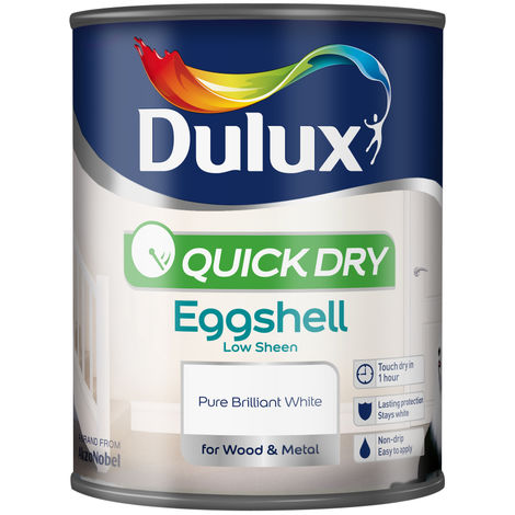 Dulux Retail Quick Dry Eggshell - Pure Brilliant White -750ml